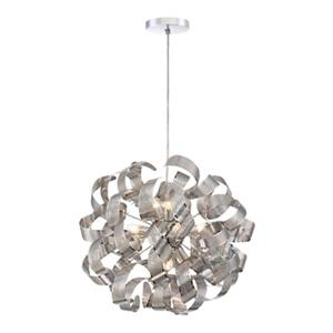 Quoizel Lace Collection 19.6-in x 19.6-in Polished Chrome Globe 9-Light Pendant Light