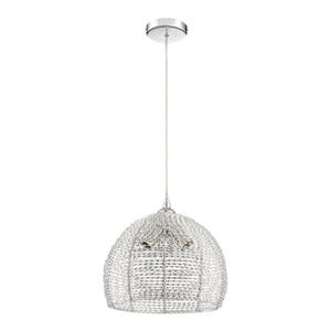 Quoizel Tango Collection 13.38-in x 12.1-in Polished Chrome Dome 3-Light Pendant Light