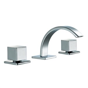 ALFI Brand Polished Chrome Modern Widespread Bathroom Faucet