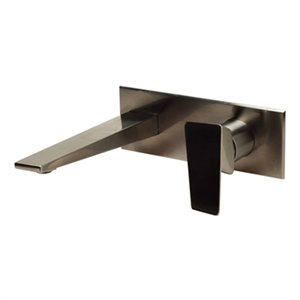 ALFI Brand Brushed Nickel Wall Mounted Bathroom Faucet