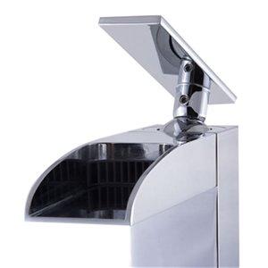 ALFI Brand Polished Chrome Single Hole Tall Waterfall Bathroom Faucet