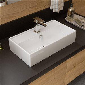 ALFI Brand Polished Chrome Single Hole Modern Bathroom Faucet