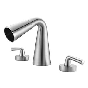 ALFI Brand Brushed Nickel Widespread Cone Waterfall Bathroom Faucet