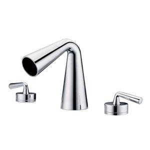 ALFI Brand Polished Chrome Widespread Cone Waterfall Bathroom Faucet