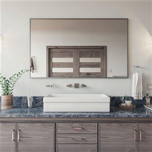ALFI Brand Polished Chrome Widespread Wall Mounted Modern Waterfall Bathroom Faucet
