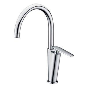 ALFI Brand Gooseneck Polished Chrome Single Hole Bathroom Faucet