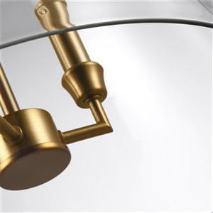 Feiss Lawler 3-Light Burnished Brass Bell Pendant