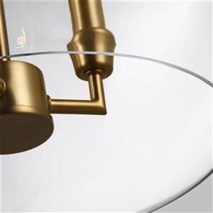 Feiss Lawler 3-Light Burnished Brass Orb Pendant
