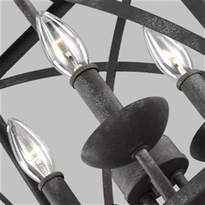Feiss Greenbrier 3-Light Iron Oxide Pendant