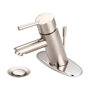 Pioneer Industries Brushed Nickel Single Handle Bathroom Faucet