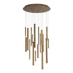 Eurofase Santana 18-Light Antique Brass Integrated LED Pendant