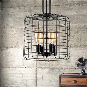 Warehouse of Tiffany Weress Black 4-Light Metal Cage Pendant Light
