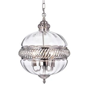 Warehouse of Tiffany Permin 3-Light Globe Pendant Light