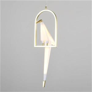 Design Living White/Gold Single Pendant Bird Light