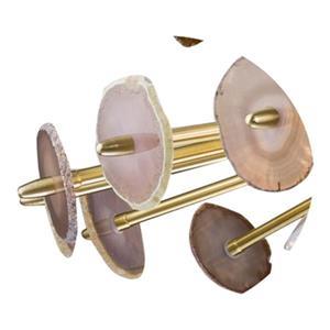 Design Living Satin Brass Spike Pendant Light