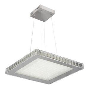 Design Living Stainless Steel LED Square Cyrstal Pendant Light