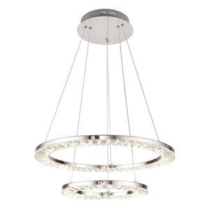 Design Living Chrome LED Double Ring Pendant Light