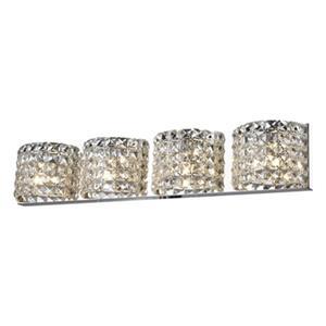 Design Living 4-Light Crystal Wall Sconce