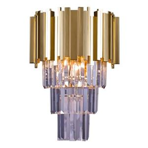Bethel International 3-Light Crystal Drop Wall Sconce