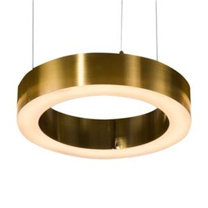 Design Living Antique Brass LED Ring Pendant Light