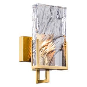 Design Living 1-Light Crystal Plaque Wall Sconce