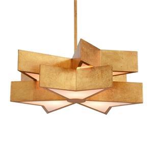 Design Living Gold leaf Star Pendant Light