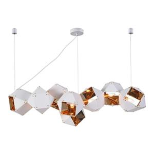 Design Living White/Gold Geometric Pendant Light