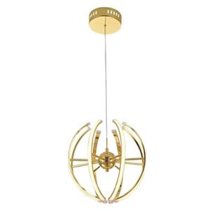 Design Living Gold LED Globe Pendant Light