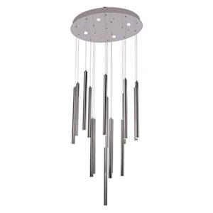Design Living Chrome LED Rod Pendant Light