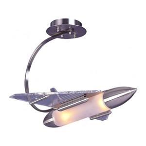 Design Living 15-in Chrome Rocket Pendant Light