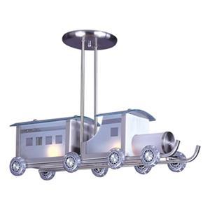 Design Living 16-in Chrome Train Pendant Light