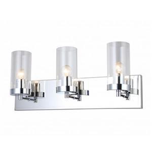 Bethel International Glass 3-Light Glass Cylinder Wall Sconce
