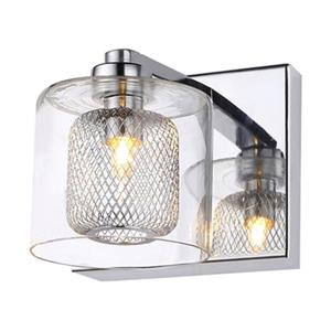 Design Living Glass 1-Light Glass Cover Crystal Wall Sconce