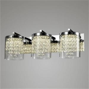Design Living Glass 3-Light Glass Cycylinder Wall Sconce