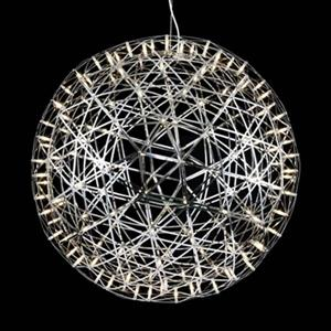 Design Living MN Series Collection 37.4-in Chrome Star Globe LED Pendant Light