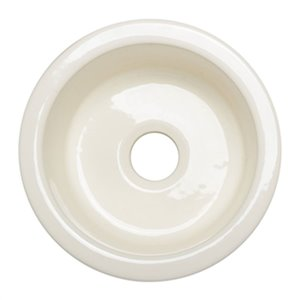 ALFI Brand Round 17-in Biscuit Fireclay Prep Sink