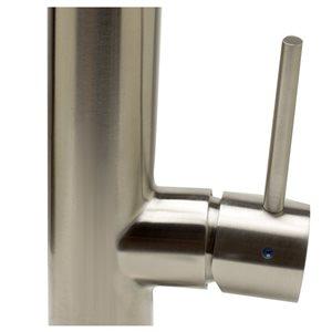 ALFI Brand 10.38-in Round Modern Stainless Steel Kitchen Faucet