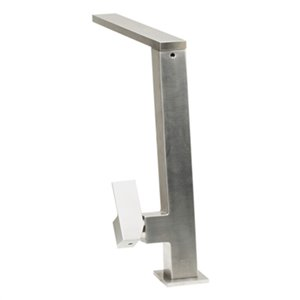 ALFI Brand 10.38-in Square Modern Stainless Steel Kitchen Faucet