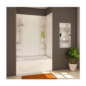 MAAX Finesse 61 in. x 34 in. x 80 in. Acrylic Tub Wall Kit