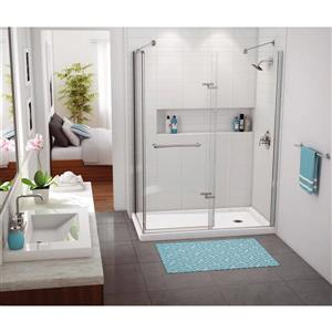 MAAX 36.25-in Rectangular Corner Shower Base with Right Drain