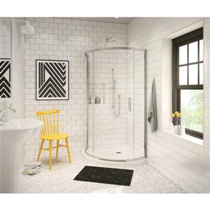 MAAX  36.13-in Corner Shower Base With Center Drain