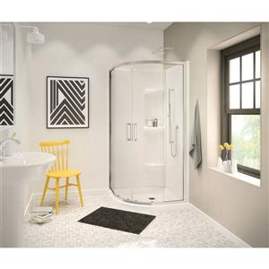 MAAX Neo 36.13-in White Round Corner Shower Base