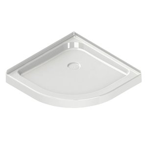 MAAX Neo 32.13-in Corner Shower Base with Center Drain