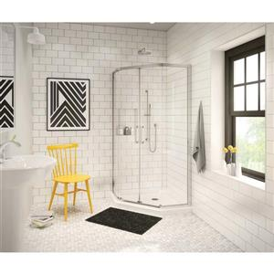 MAAX Neo Angle 36.13-in Corner Shower Base with Center Drain
