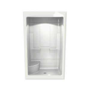 MAAX Tempo Shower - 34-in x 51-in - Centre Drain - Left Seat - 3 PC