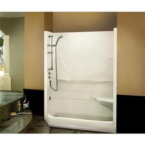 MAAX Allegro Shower - 33-in x 59.25-in - Left Drain - 2 Pieces