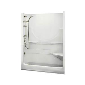 MAAX Allegro Shower - 33-in x 59.25-in - Right Drain - 1 Piece