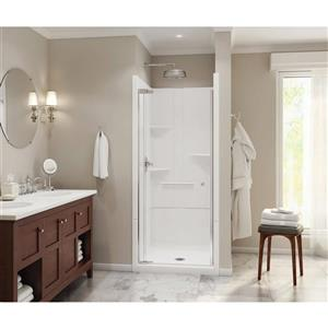 MAAX Camelia Shower - 36.5-in x 36-in - Centre Drain - 2 Pieces