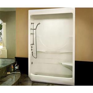 MAAX Allegro Shower - 33-in x 59.25-in - Left Drain - 3 Pieces