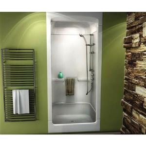 MAAX Primo Shower - 32.25-in x 39-in - Centre Drain - 3 Pieces